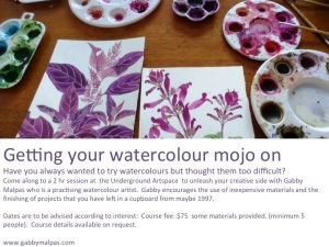*Getting your Watercolour Mojo on